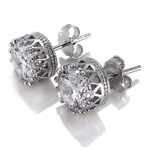 Crown Jewels Earring all set in Sterling Silver