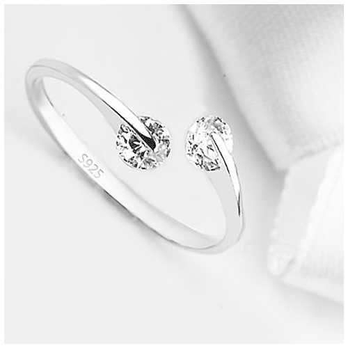 Match Made In Heaven - Two Diamonds have come together on a Sterling Silver Ring