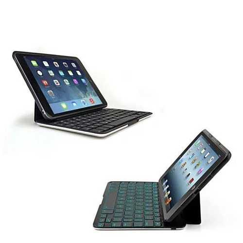 Slimmest Backlit iPad 2/3/4, Air 1/2 and Mini Hard Shell Case with Bluetooth Keyboard