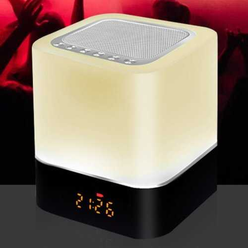 Sweet Dreams Speakers In 7 Changeable Mood Color Touch Lamp+ Phone Charger