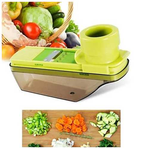 Veggie Lover's Compact Palm Sized Mini Grater and Veggie Slicer