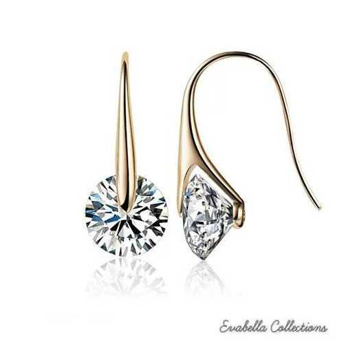 BOUTIQUE DIAMONDS - Charming Swarovski Drop Earrings