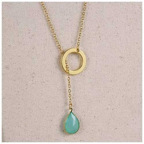 Lucky Luminous Crystal Lariat style Necklace