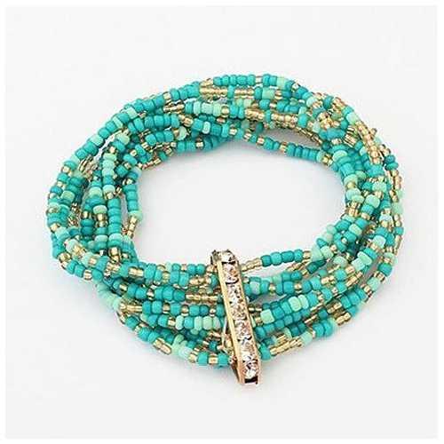 Bohemian Bead Bracelet in Springy Colors