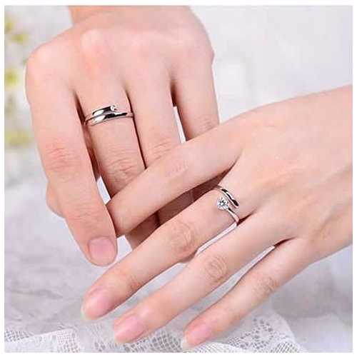 We Belong Together - Set of 2 Rings in 925 Silver