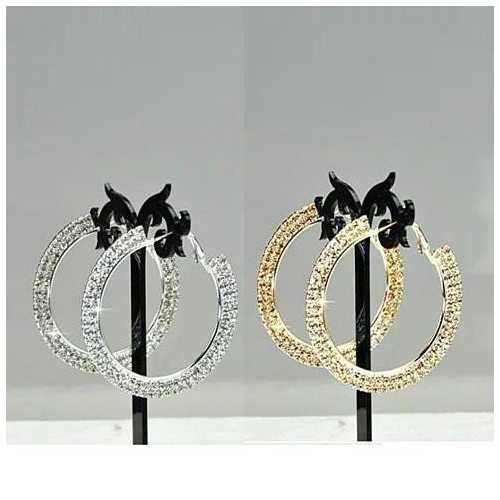 ETERNITY EVER GLOW - Double Shine Hoop Earrings Crystal
