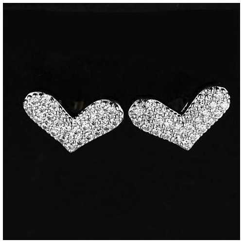 Heart Beats  The Pave Heart Earrings