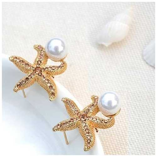 Gifts from the Sea Starfish Pearl Earrings