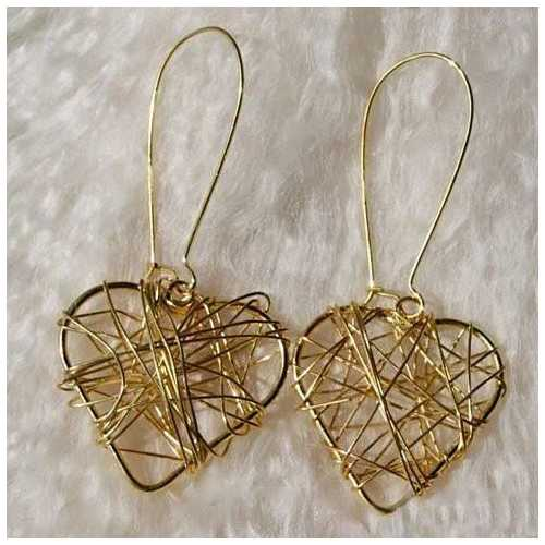 Wrapped in Harmony And Simplicity The Retro Style 2 Pairs Of Heart and Circle Earrings