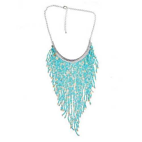 Bohemian Beads Waterfall Necklace