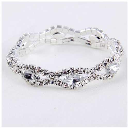 Love Boat All Crystal Stretchable Bracelet