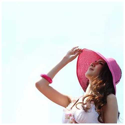 Sun Hut Straw Hat Cool And Foldable