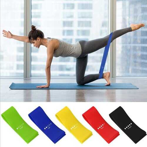 Flex And Stretch Set Of 5 Exercise Latex Bands