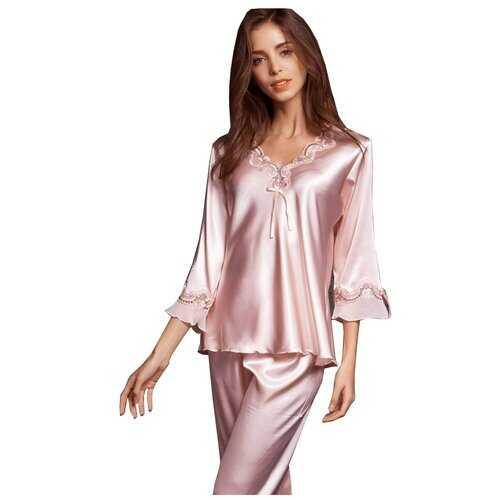 Satin Rose Silky Pajama Set