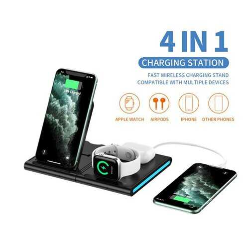 Magnetic Power Tiles 4 In 1 Wireless Charging Station
