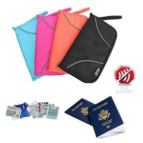 SAFE JOURNEY RFID BLOCKER Passport and Credit Card Protector Wallet
