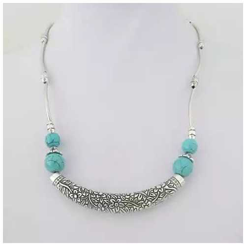 Luna The Crescent Moon Turquoise Necklace