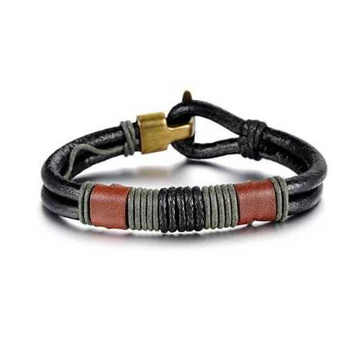 RODEO Olive Genuine Leather Bracelet