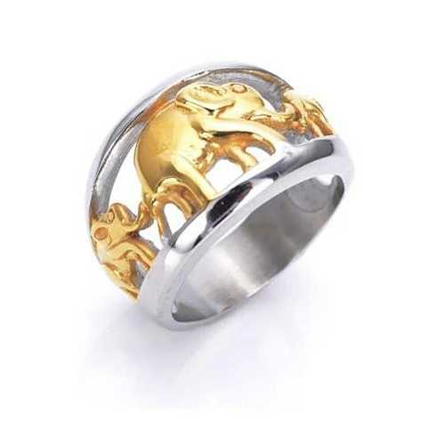 Golden Elephants Ring From TRUNK SHOW Collection