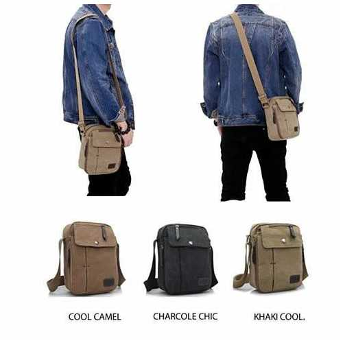 COOL & CHIC Casual Canvas Crossbody