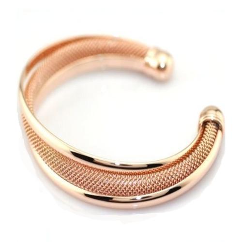 Capri Moon 18 KT Rose Gold Plated Italian Design Mesh Bracelet