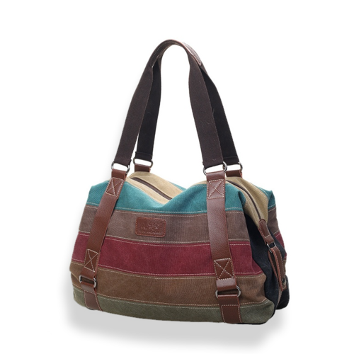 VIVA VOYAGE Canvas Shoulder Bag From Journey Collection with FREE GIFT of RFID Card Protector Wallet