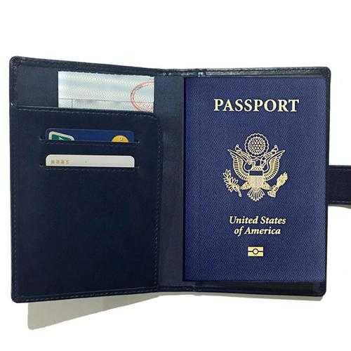 Passport Wallet with RFID Safe Lock