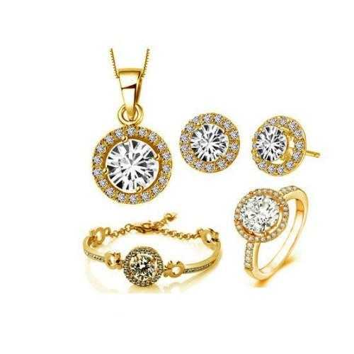 Queen's Luck SET OF 5 Pcs In Swarovski Crystal With White Yellow And Rose Gold Overlay