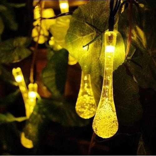 Dew Droplets 20 LED Solar Lights Falling Like Dew