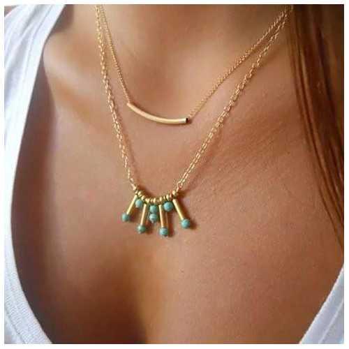 Turquoise Rain Necklace