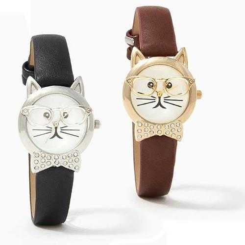 Bow Tie Affair Cat Watch With Diamond Crystal Bow