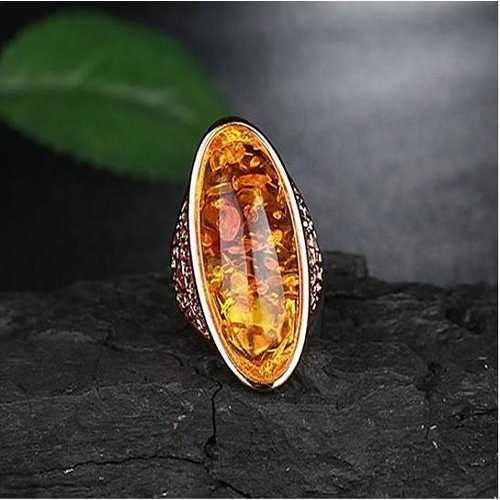 Lava Ring In Fiery Oval Opal