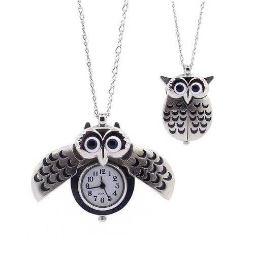 O My Owl Pendant Watch In Antique Gold