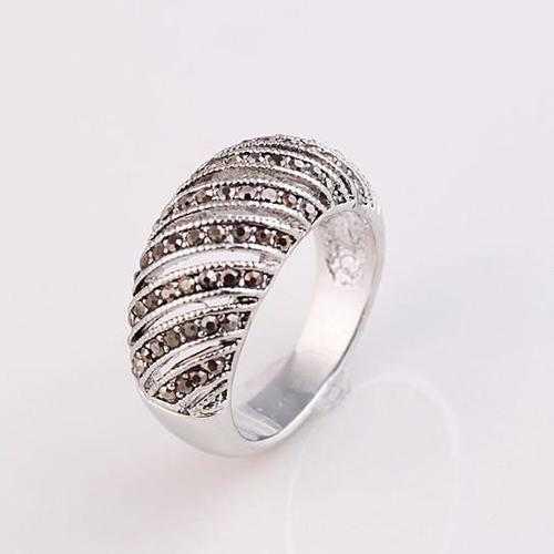 Markeza Ring In Semi Precious Marcasite Pave Crystals