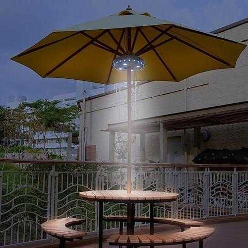 UFO 360 Patio Umbrella Light with 28 LED Ring
