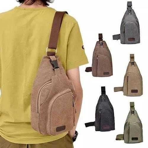 Sling Cling Cotton Canvas Messenger Bag in 5 Colors