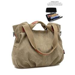 ARM CANDY Handy Natural Canvas Handbag