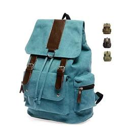 Back to Campus Canvas Backpack - 4 Colors!