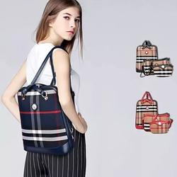 Posh And Cool Convertible 3 in 1 Backpack in Plaid