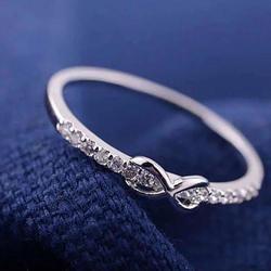 Infinite Love Ring with parade of CZ Diamonds