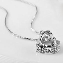 Hugging Hearts Pendant and Chain