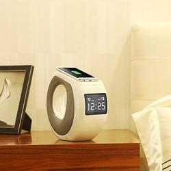 Category: Dropship Electronic Accessories, SKU #5975038277, Title: Ocean Wave Bluetooth Speaker , Clock and Wireless Phone Charger