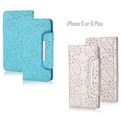 Isadora Vintage Charm Wallet For iPhone 6 / 6 Plus With Matching Detachable Phone Case Feature