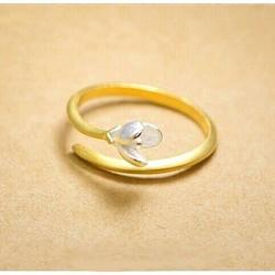 Just Be Mine Roman Gold Antique Ring on Sterling Silver