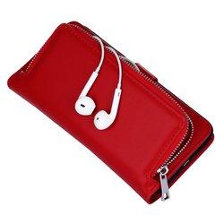 Newest iPhone 8 Case With Zipper Pocket Detachable Case