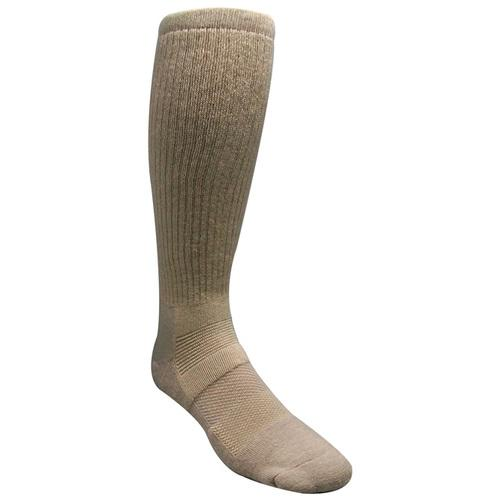 SAND MILITARY BOOT SOCK Size 9-13 Sand