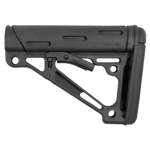 AR-15/M-16 OverMolded Collapsible Buttstock -Fits Mil-Spec Buffer Tube -Black Rubber