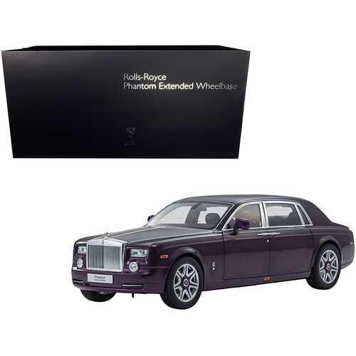 Rolls Royce Phantom Extended Wheelbase Twilight Purple 1/18 Diecast Model Car by Kyosho