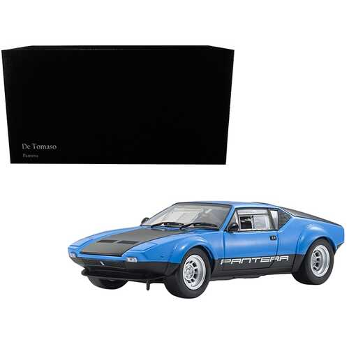 De Tomaso Pantera GT4 Blue and Black 1/18 Diecast Model Car by Kyosho