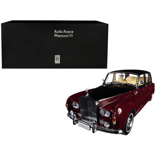 Rolls Royce Phantom VI Red with Black Top 1/18 Diecast Model Car by Kyosho